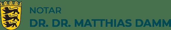 Notar Dr. Dr. Matthias Damm in Ludwigsburg Logo